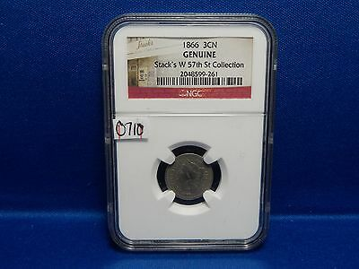 1866 3-Cent Nickel NGC Stack's West 57th St Collection