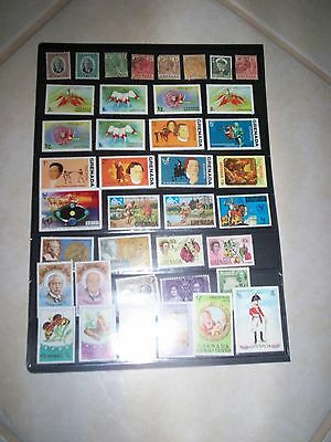 Nice lot of  Grenada Stamps Removed from Albums GRE19MAY