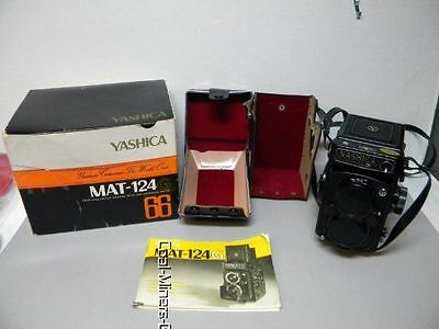 """MINTY"" Super-Clean YASHICA MAT-124G Camera ,Original Box, Instructions & Case"