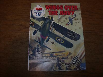 """Vintage WAR PICTURE LIBRARY no.8 (1958 10d) VG+  """"WINGS OVER THE NAVY"""""""