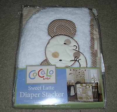 CoCaLo Baby SWEET LATTE Elephant DIAPER STACKER New in Package