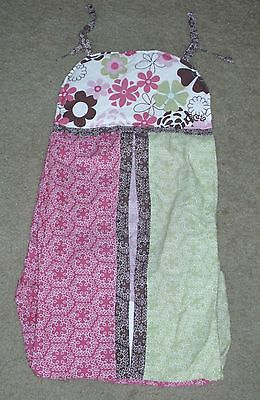 CoCaLo Baby TAFFY Pink Green Brown Flowers DIAPER STACKER New