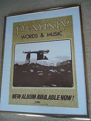 Planxty Poster 1983 Vintage Original Printers Poster Words& Music Priceless Rare