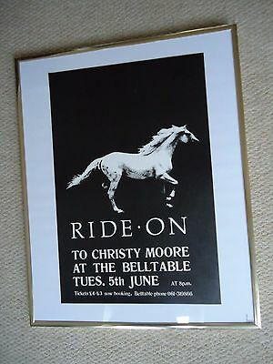Christy Moore  Concert Gig Poster June 1984 Belltable Rare Original Vintage Gem!