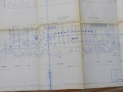Great Northern Railway GN Ry Electro Motive Division Blueprint Drawing Diagram