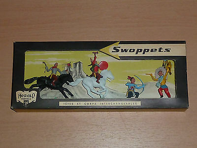 Herald Britains Swoppet Plastic Toy Soldiers 54mm boxed Indian from Paris Office