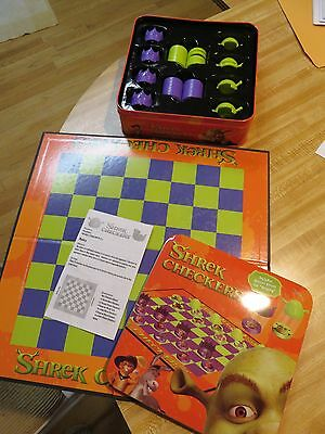 shrek checkers tin game set RARE complete