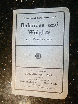Early 1900's Voland Balances and Weights of Precision Catalogue E