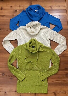Crown And Ivy Size Small Lot Of 3 Sweaters Rue 21 Blue Green NWOT Shirt Cable