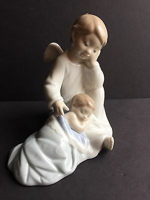 Lladro My Guardian Angel (Blue)
