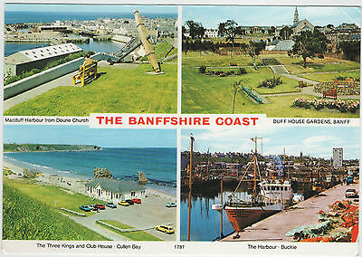 The Banffshire Coast 1985 Used Postcard Stamped Hail Caledonia Whiteholme 1787