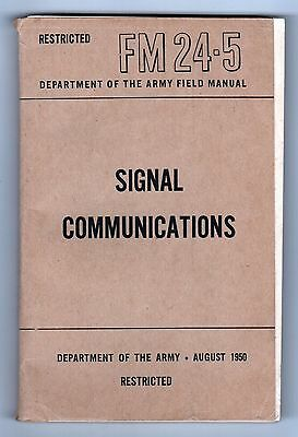1950 SIGNAL COMMUNICATIONS Field Guide RESTRICTED Korean War MILITARY ARMY USA