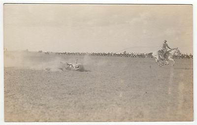 RODEO RPPC Real Photo Postcard HORSES Horse COWBOY Western AMERICAN WEST AZO