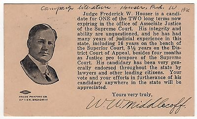1926 LOS ANGELES CALIFORNIA Political Postcard FREDERICK HOUSER Judge COURT