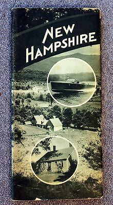 1940s NEW HAMPSHIRE Travel Brochure BOOKLET NH Franconia Notch LAKES Exeter