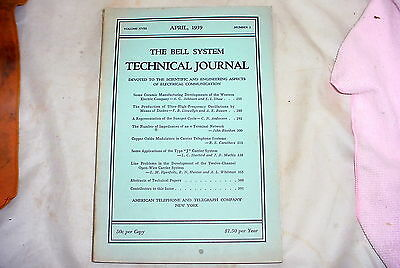 1939  Bell System AT&T Technical Journal  *
