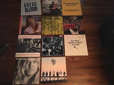 Lot of 11 Double Sided Blues Promo Poster Flats Gregg Allman, Gary Moore, Hooker