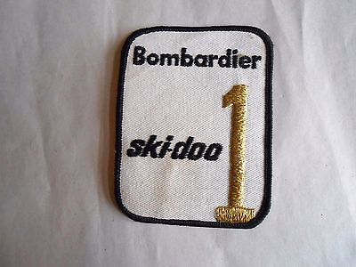 Vintage Ski-doo Bombardier Snowmobile #1 Sew On Advertising Cloth Patch