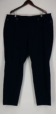 Charter Club Plus Size Jeans 22W Pull On Skinny South Hampton Blue NEW