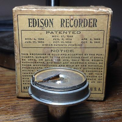 FULLY SERVICED Edison Cylinder Phonograph 2-minute Recorder