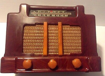 Vintage Addison Industries 5D Shortwave & Broadcast 6 AM Circuit Red Radio