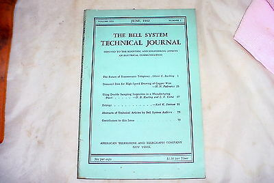 1942 June  Bell System AT&T Technical Journal *