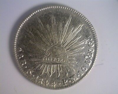ICOIN - Mexico 1844PM-Go Silver 8 Reales