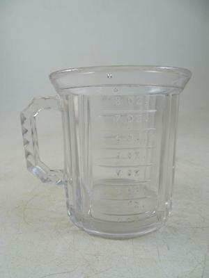 Antique Measuring Cup Graduated Paneled EAPG Early American Pattern Glass Vtg