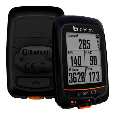 NEW Bryton Rider 100E Bicycle Innovative GPS Cycling Computer BLACK