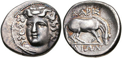GREECE, THESSALY, Larissa. Circa 356-342 BC. Silver Drachm. VF and attractive.