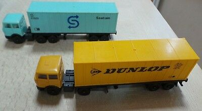 Lima Ho Gauge 2 X Articulated Hgv Container Lorries Dunlop & Seatrain