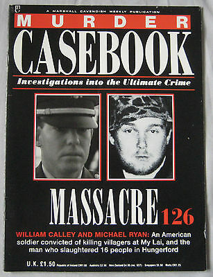 Murder Casebook Issue 126 - Massacre, William Calley & Michael Ryan