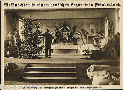 Lazarett Station Bakterienruhr Weihnacht 1915 WW1 hospital ruhr sick warrior (20