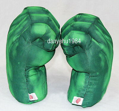 Incredible Hulk Smash Hands Plush Punching Boxing Fists Gloves Cosplay Pair