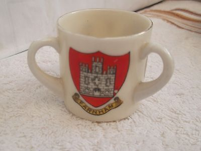 Model Of A  Loving Cup Crested Farnham, Surrey, England By Arcadian China