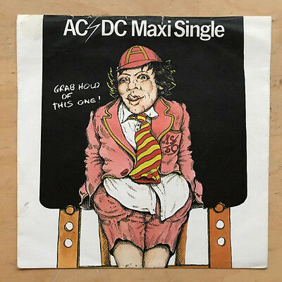 "AC/DC GRAB HOLD OF THIS ONE! 7"" RARE 1977 EP - nice copy with the rare picture s"
