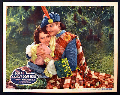 GHOST GOES WEST 1935 Robert Donat, Jean Parker - René Clair LOBBY CARD