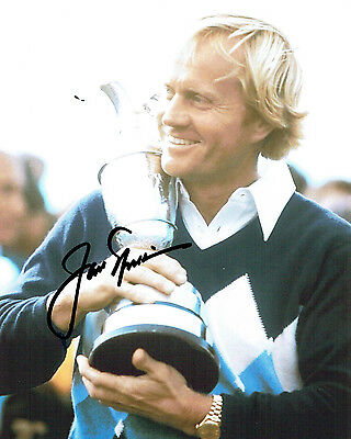 Jack NICKLAUS SIGNED Autograph 10x8 Photo AFTAL GOLF Open Winner