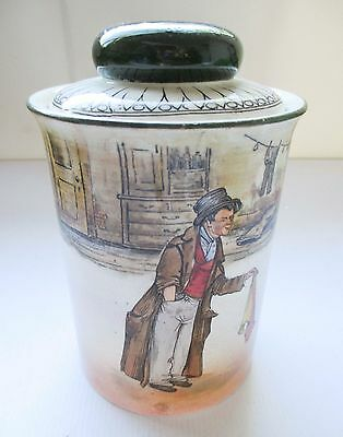 Stoneware Tobacco Jar / Tea Caddy Royal Doulton The Artful Dodger Series C1910