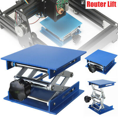 Aluminum Platform Rack Router Lift Lifter Stand For Lab/ Laser Engraving Bench