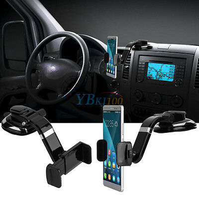 Universal Car 360° Windshield Mount Holder Stand For iPhone Mobile Phone GPS DH