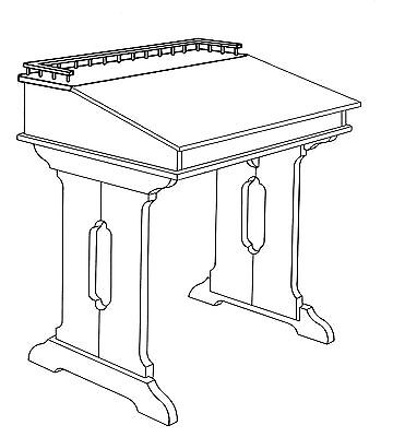 Colonial Captain's Style Desk Plans, Templates and Instructions