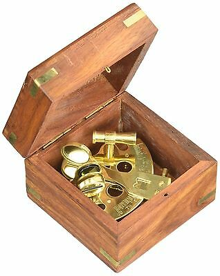 """4"""" Astrolabe Sextant w/ Wooden Box: Nautical Sextant 4"""" INCHES"""