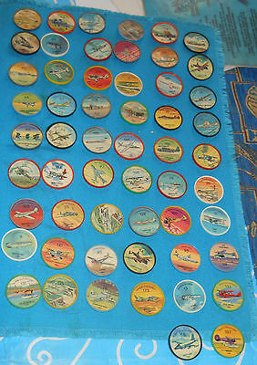 Vintage Lot of 56 - JELL-O /HOSTESS AIRPLANE TOKENS/COINS /AVIATION