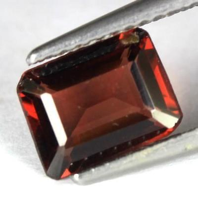 *1.61 cts. 8.2 x 6.3 mm. NATURAL OCTAGON RED ALMANDINE AFRICA
