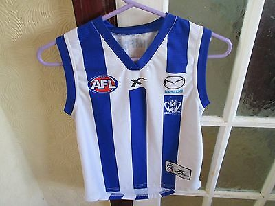 North Melbourne Afl Boys Football Club Kangaroos Shirt Age 12 Chest 32 Inches