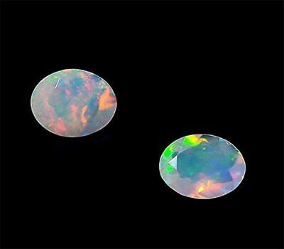 5x7 MM Oval 4 Pieces Natural Ethiopian Welo Opal Faceted Gemstone DDL98