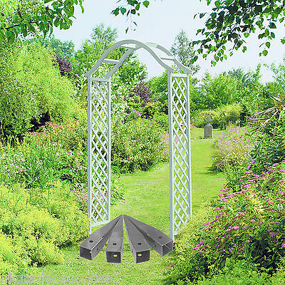 Elegant Wooden Garden Arch &  4 Metal Ground Spikes - Arch way - Pergola