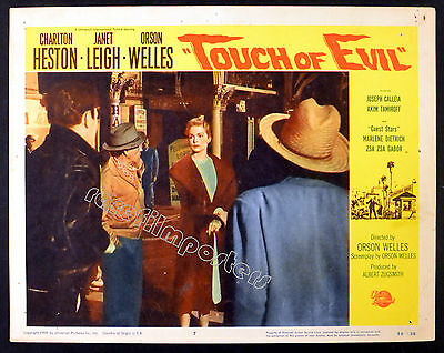 TOUCH OF EVIL 1958 Orson Welles, Janet Leigh LOBBY CARD #7