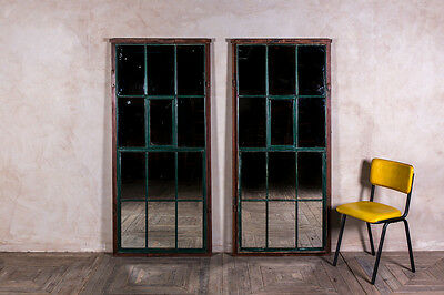 Vintage Steel Framed Window With Mirrored Panes Large Mirror Feature Wall